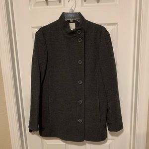 La Redoute Charcoal Grey Lined Coat - Size 12 for sale